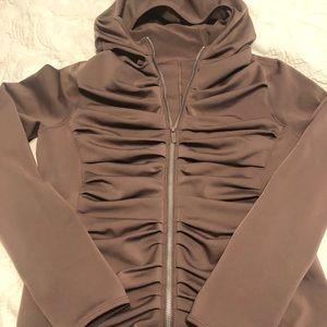 Lululemon hooded ruched zip up jacket - size 12